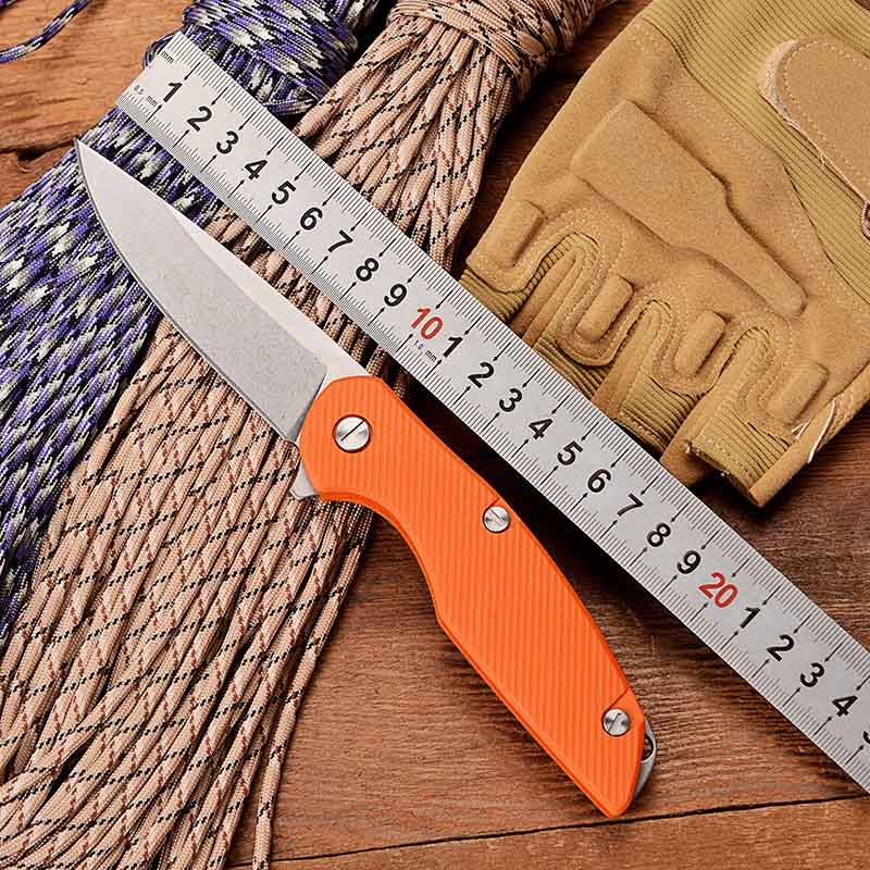 Bear Folding Pocket Knife Bearing D2 G10 Combat Survival Tactical Knives Outdoor Hunting Camping EDC Multi Tools 111 F95 EVO(China)