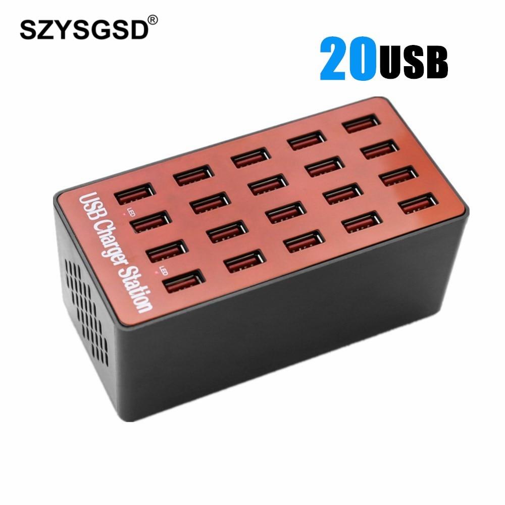 90 W Multi Port chargeur 20 ports USB chargeur mural 18A bureau Intelligent Stations de charge pour téléphone Intelligent tablette ordinateur portable caméra