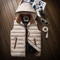 2016 Outono e inverno Nova amantes emagrecer espessamento colete de algodão colete feminino colete roupas masculinas Colete