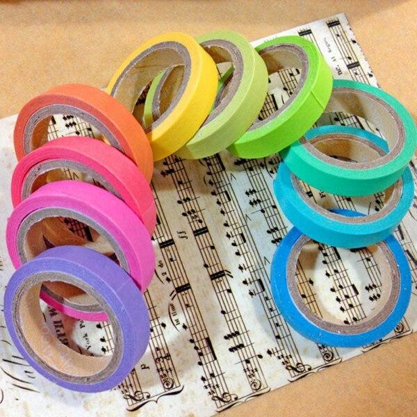 10 Rolls Washi Tape Decorative Scrapbooking Paper Masking Adhesive Sticker Craft