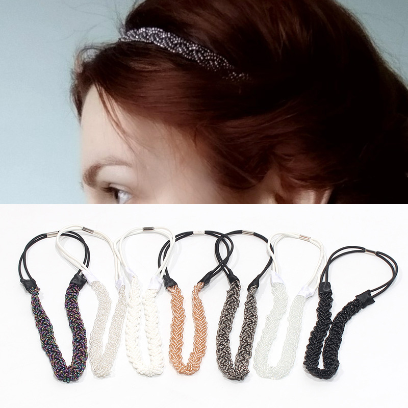 New Weave Ethnic Metal Tube Women Gun Headbands Bohemia Queen Shiny Crystal Yoga Summer Hair Accessories Costume Dress Decorate