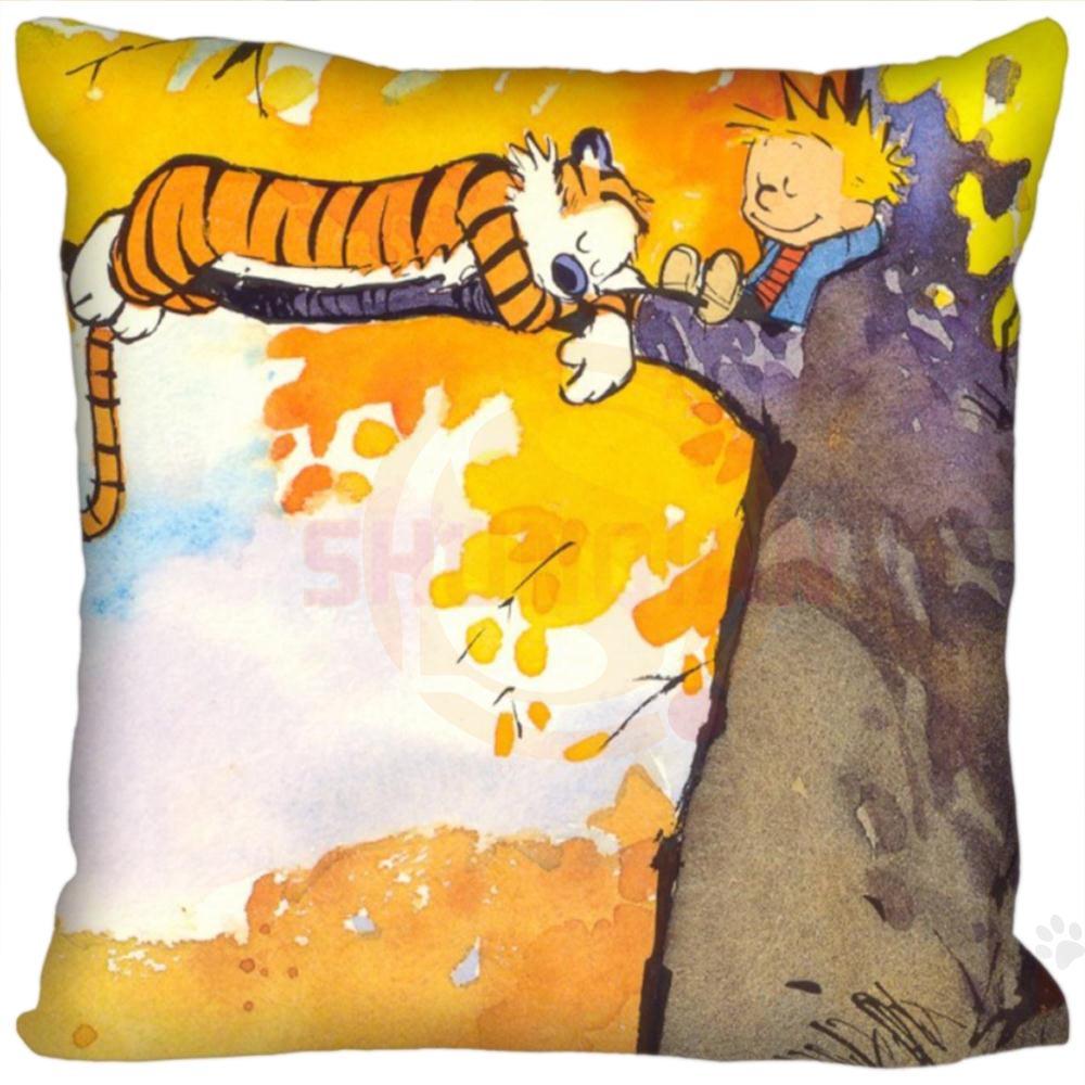 New Hot Custom Calvin and Hobbes Square Pillowcases zipper Fashion ...