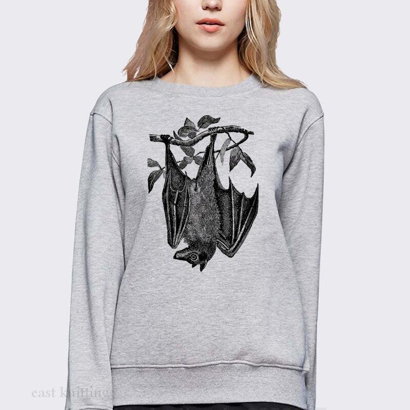 ef52ec1b43d WS0150 Slouchy Sweatshirt For Women Flying Fox Bat Print Unisex ...