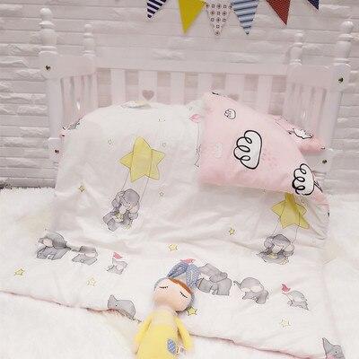 Promotion! 3PCS Cartoon Baby Crib Nursery BeddingCrib Sheets (Duvet Cover+Sheet+Pillowcase)