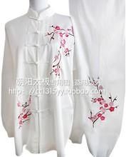 Customize Tai chi clothing Martial arts outfit taiji uniform kungfu plum blossom embroidery for women men girl boy children kids