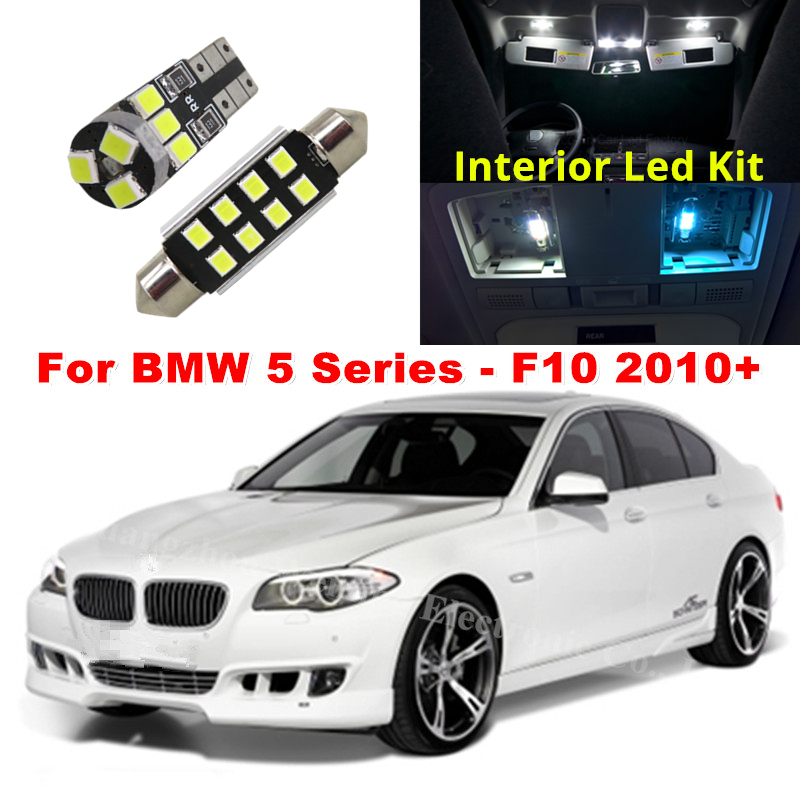 WLJH 19x White Canbus Dome Footwell Trunk Lighting Bulb LED Car Interior Light Kit for BMW F10 5 Series 2010+550i 535i 528i M5