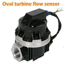 Sıvı türbin akış ölçer dijital debimetre darbe çıkışı OGM Elektronik Oval türbin akış sensörü Sıvı Akış ölçer
