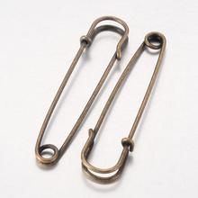 100pcs Nickel Free Iron Kilt Pins Jewelry Findings for DIY Antique Bronze Color 70mm long 18mm