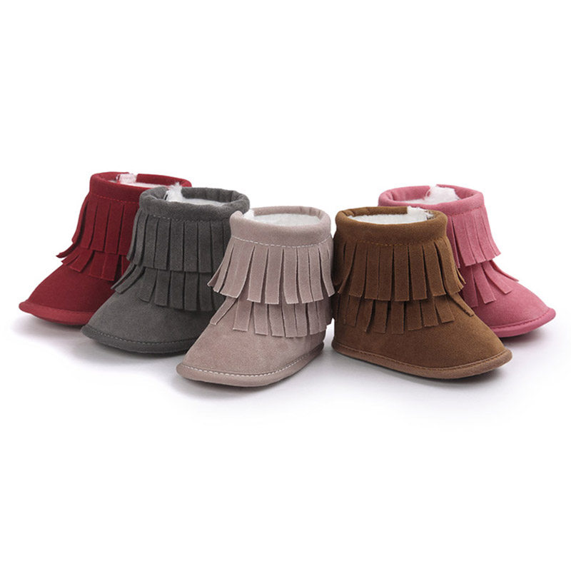 Fesyen Soft Baby Boots Baby Girl Shoes Anti-slip Boots Tassel Baby First Walker Infant Shoes S005-30