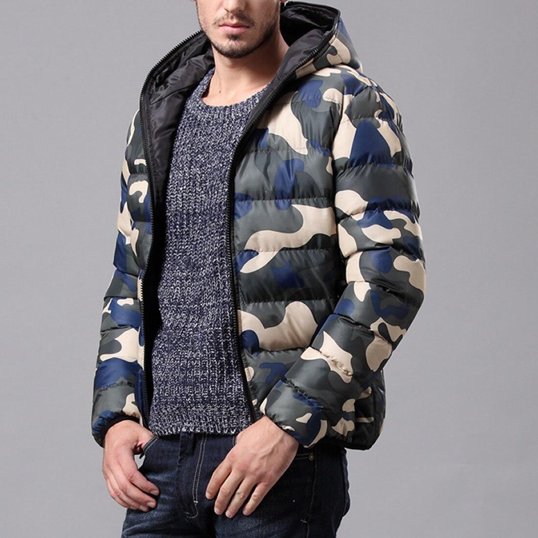 100% QualitäT Herren Winter Parkas Camouflage Gedruckt Mit Kapuze Winter Jacken Männer Zipper Plus Größe Unten Jacke Herren Mantel Jugend Winter Jacken