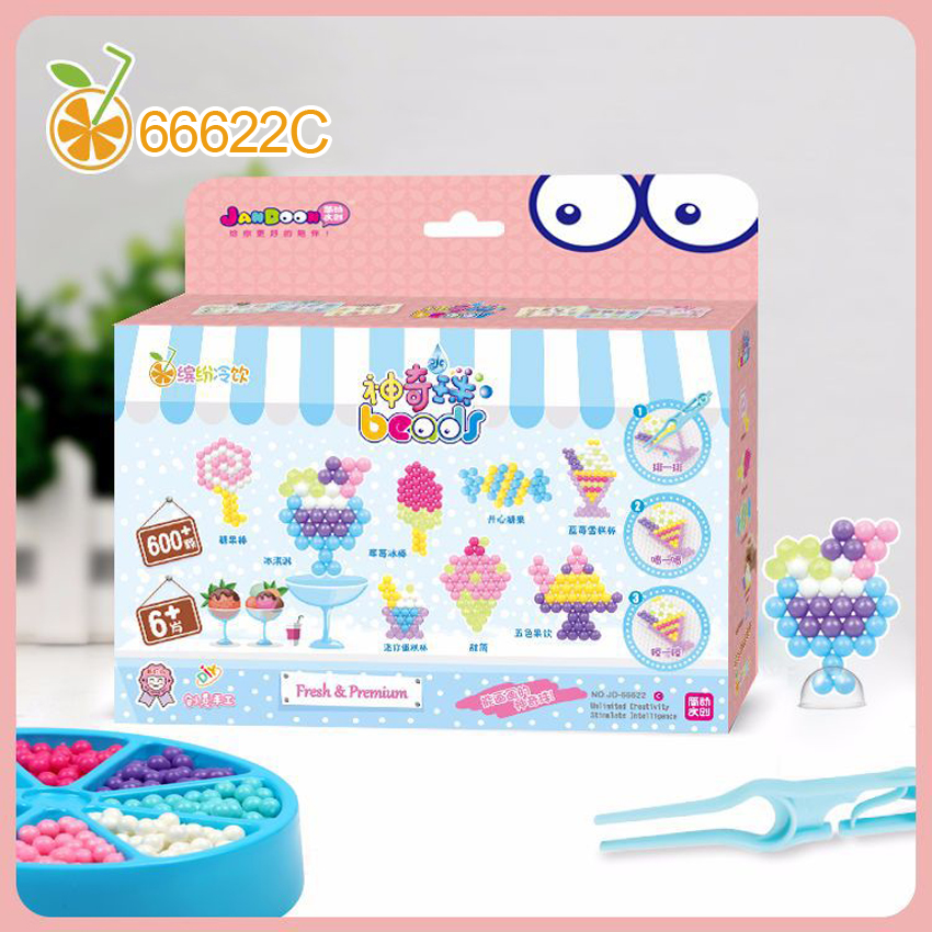 DOLLRYGA 600pcs Perler Pegboard Beads Toys For Children Girl Boy DIY Water Bead Set Fuse Jigsaw Kids Handmade Puzzle Bead 66622C