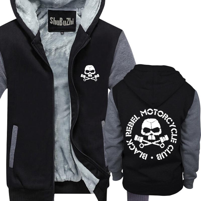 647105f44e winter hoodies men cotton brand hooded hoody Black Rebel Motorcycle ...