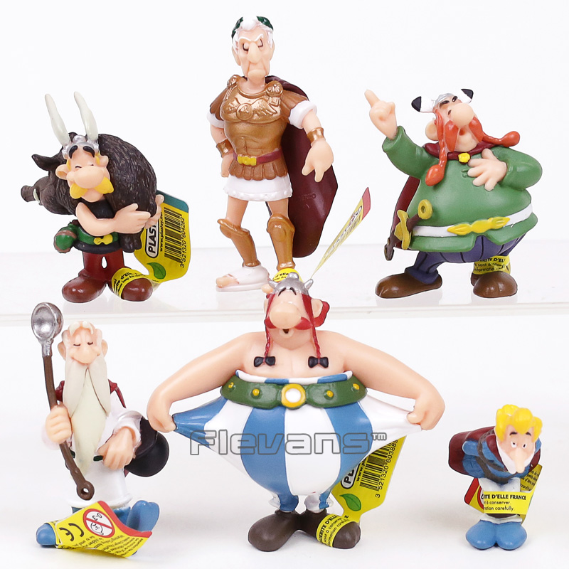 Classic France Cartoon The Adventures of Asterix PVC Figures Toys Kids Childrens Gifts 6pcs/set asterix asterix en hispania