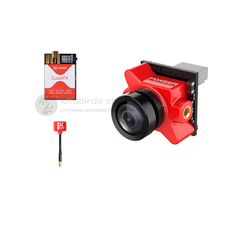Foxeer FPV combos Predatorda micro V2 camera + ClearTX 2 5.8G 48 CH VTX + Lollipop 2 antenna MMCX for DIY FPV mini racing drone