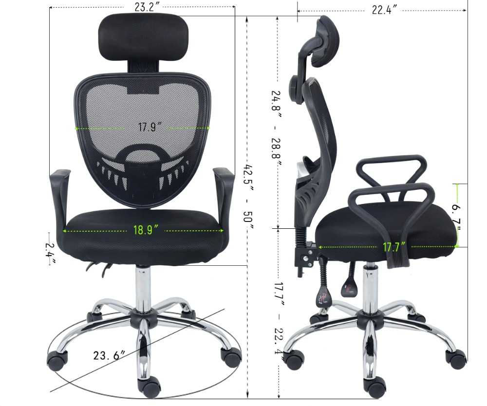 Strange Wahson Mesh Office Chair High Back Ergonomic Executive Desk Gmtry Best Dining Table And Chair Ideas Images Gmtryco