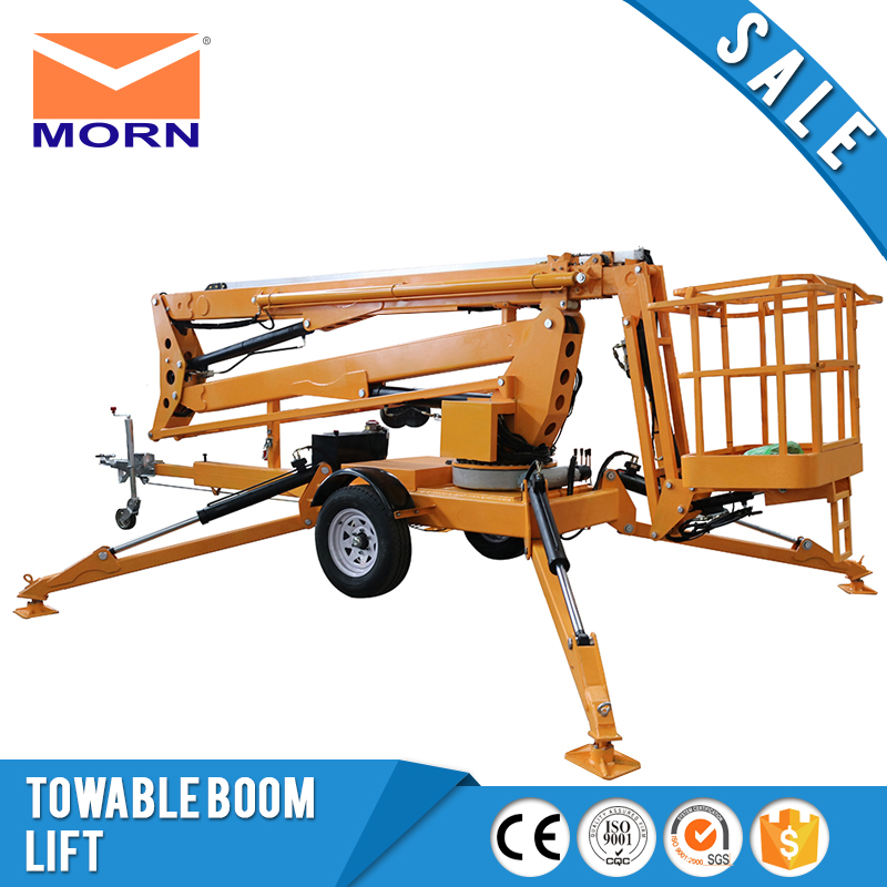 Towable boom lifts ATM0.2 8 mobile hydraulic articulating trailer AC power  small 200kg cheap price man boom lift for hot sale-in Lifting Tools &  Accessories ...