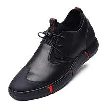 купить New Plus Size Men Shoes Fashion Lace Up Casual Shoes Split Leather Summer Man Shoes Low Black Flat Shoes Loafers  DA0192 дешево