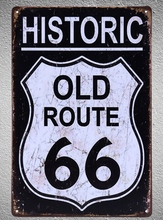 1 pc Route 66 bar Tin Plate Sign plate wall man cave Decoration Art Dropshipping Poster metal