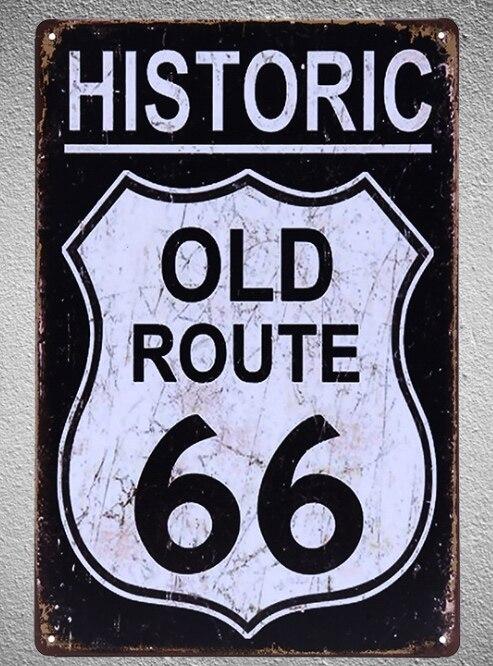 1 pc Route 66 bar Tin Plate Connexion plate homme mur Décoration cave Art Dropshipping Affiche en métal