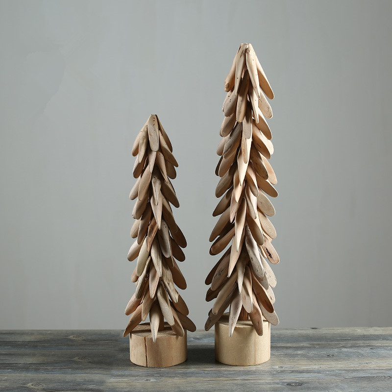 Beautiful Wooden Christmas Tree Handmade Natural Wood