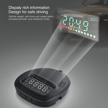 Vancago A1 Car HUD cabeça up display Digital velocímetro do carro GPS Sistema de Alarme de Carro Alarme de Excesso de Velocidade Universal Para Todos Os carros