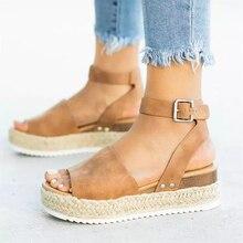 CXJYWMJL Wedges Shoes For Women High Heels Sandals Summer Shoes Flip Flop Chaussures Femme Platform Sandals Plus Size 35-43