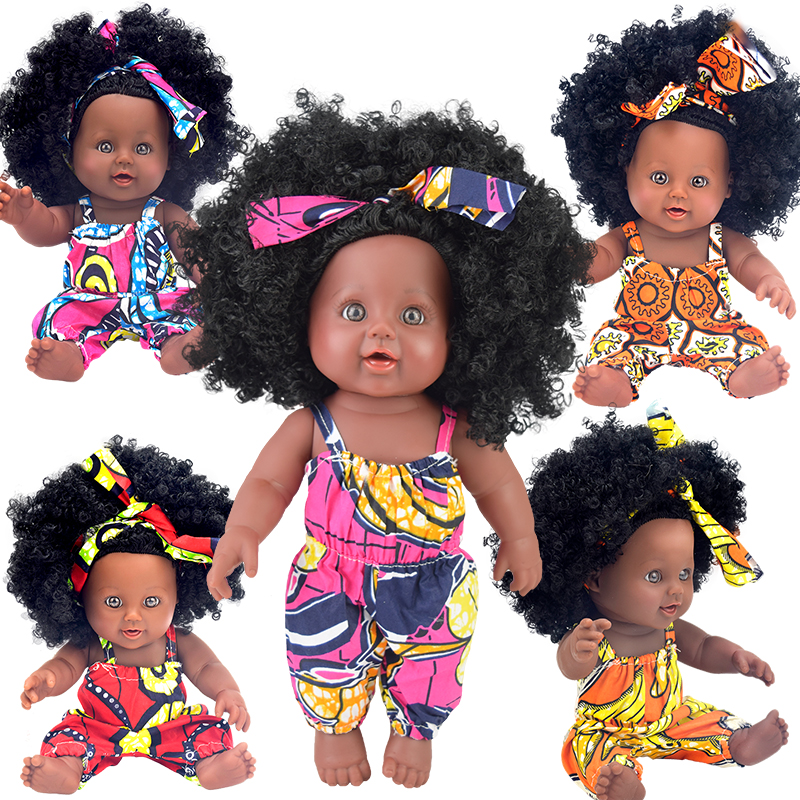 bath bebe reborn! 12inch black  baby dolls lol reborn silicone vinyl 30cm newborn poupee boneca baby soft toy girl kid todder