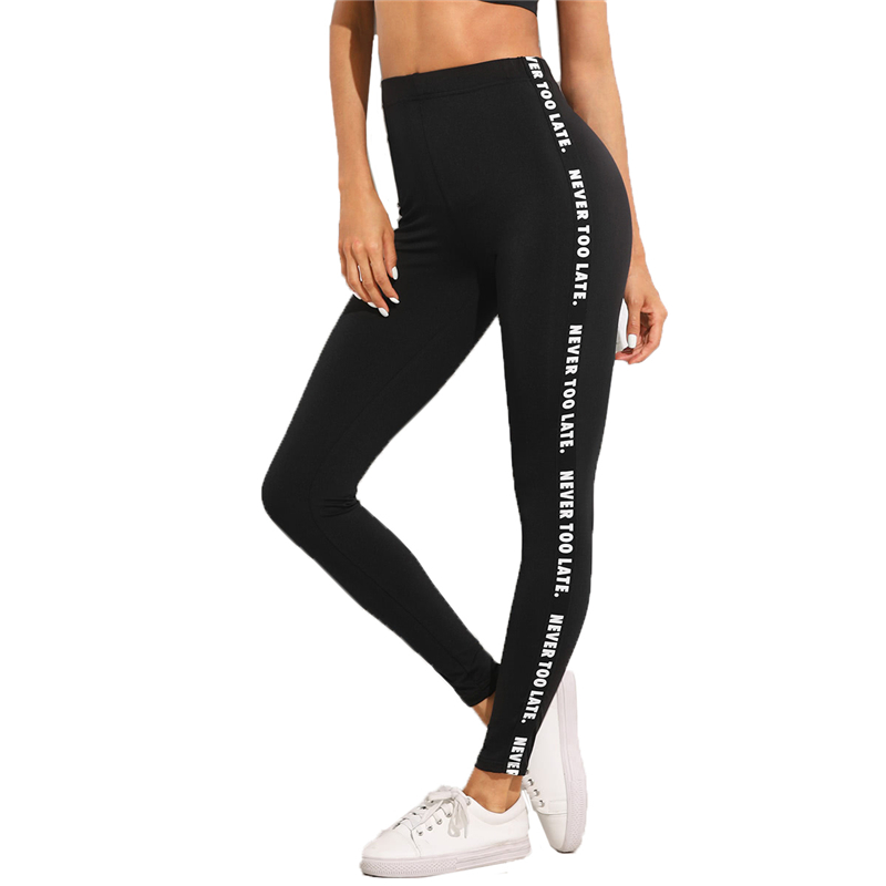 80005 sweatyrocks carta imprimir aspect skinny leggings 2018 stretchy leggings culturas mulheres desgaste ativo athleisure leggings esportivos - HTB1wDligAyWBuNjy0Fpq6yssXXaE - SweatyRocks Carta Imprimir Aspect Skinny Leggings 2018 Stretchy Leggings Culturas Mulheres Desgaste Ativo Athleisure Leggings Esportivos