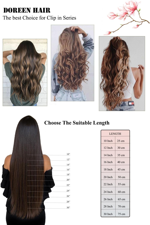 Doreen заколки для волос в полный набор головы 160 г 200 г искусственные волосы одинаковой направленности настоящие натуральные человеческие волосы для наращивания зажим для волос