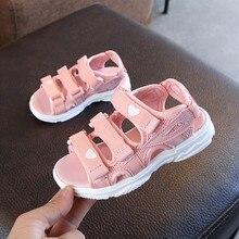 ULKNN Childrens sandals 2019 summer new girls princess shoes big non-slip soft bottom beach tide