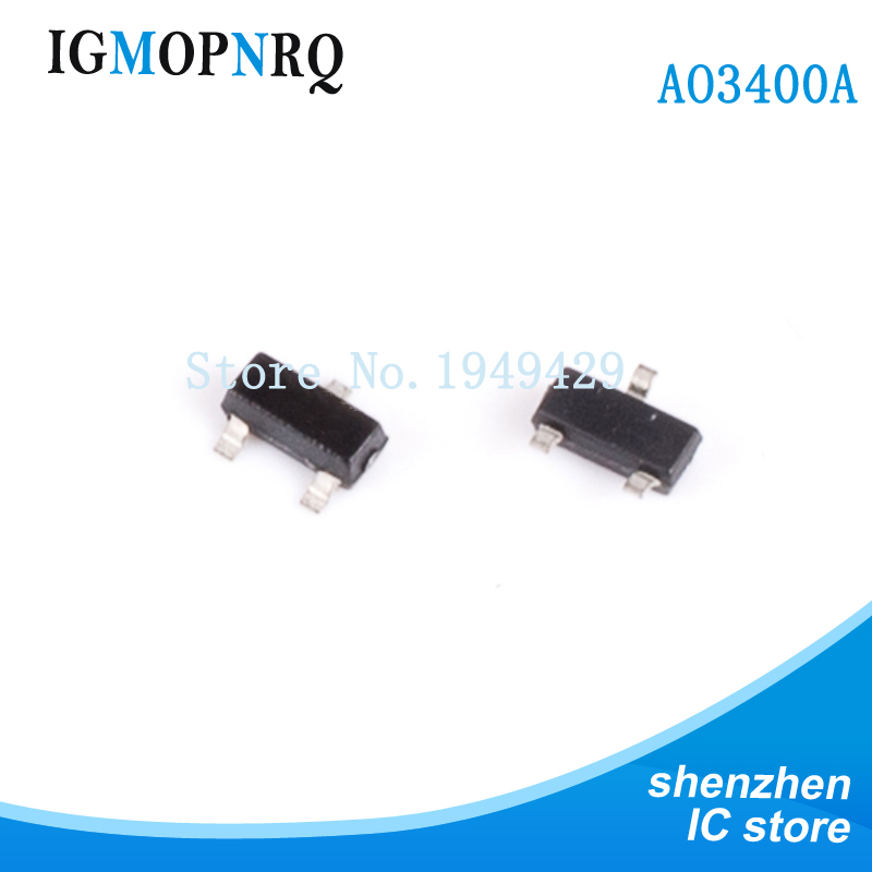 100pcs Free Shipping AO3400 AO3400A SOT23-3 MOSFET MOSFT 5.0A 29mOhm 30V 2.5V Drv Capable New Original