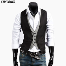 Mens Vests Suit 2018 Sleeveless Male Waistcoat For Vest Waistcoat Wedding Dresses Wedding Classic Colete Masculino Social Blazer