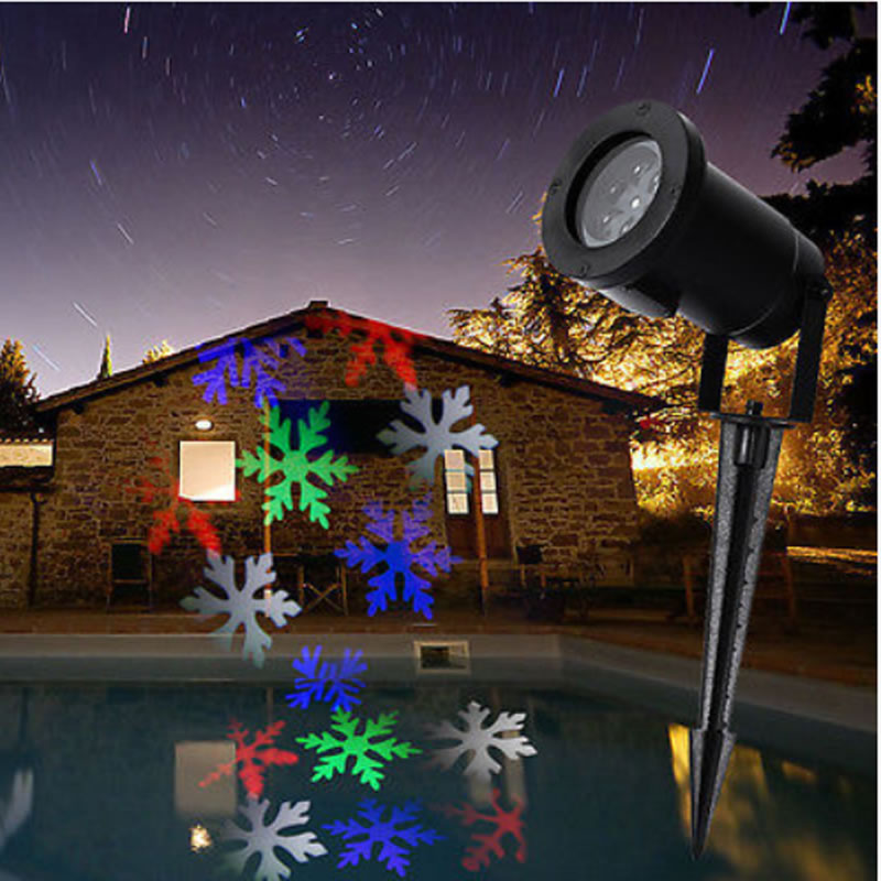 Moving Snowflake LED Landscape Laser Light Garden