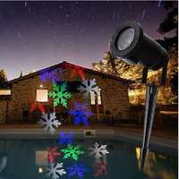 Moving Snowflake LED Landscape Laser Light Garden Projector Lamp Outdoor Xmas