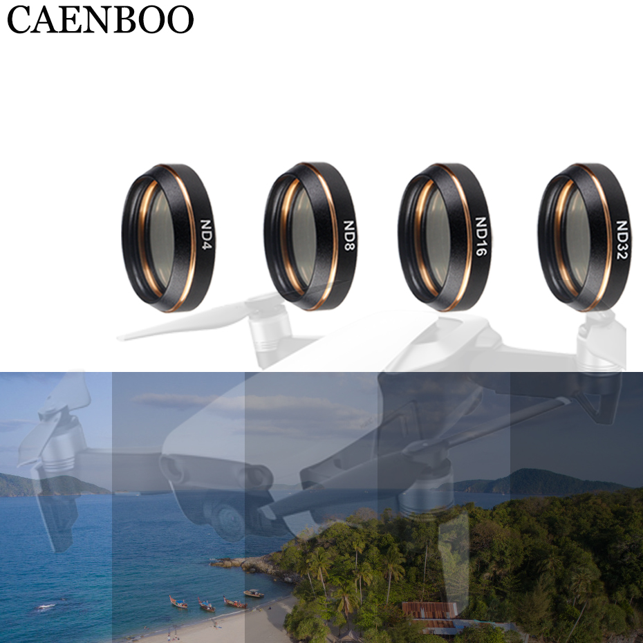 CAENBOO Mavic Air Lens ND Neutral Density Filter 4pcsSet ND4 ND8 ND16 ND32 For DJI Mavic Air Drone Camera Filters Accessories original dji mavic air nd filters set nd4 8 16 for mavic air camera drone filter 3pcs filter dji mavic air accessories