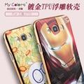 Chapado En Oro de calidad superior de Lujo 3D Caso de La Contraportada Para Samsung Galaxy J7 2016 J710F J710 Teléfono Móvil TPU Cubierta