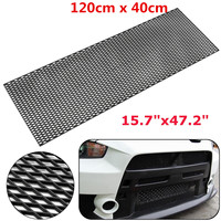 120cm Universal Car Styling Honeycomb Mesh Grill ABS Plastic Spoiler Front Bumper Hood Vent Air Intake