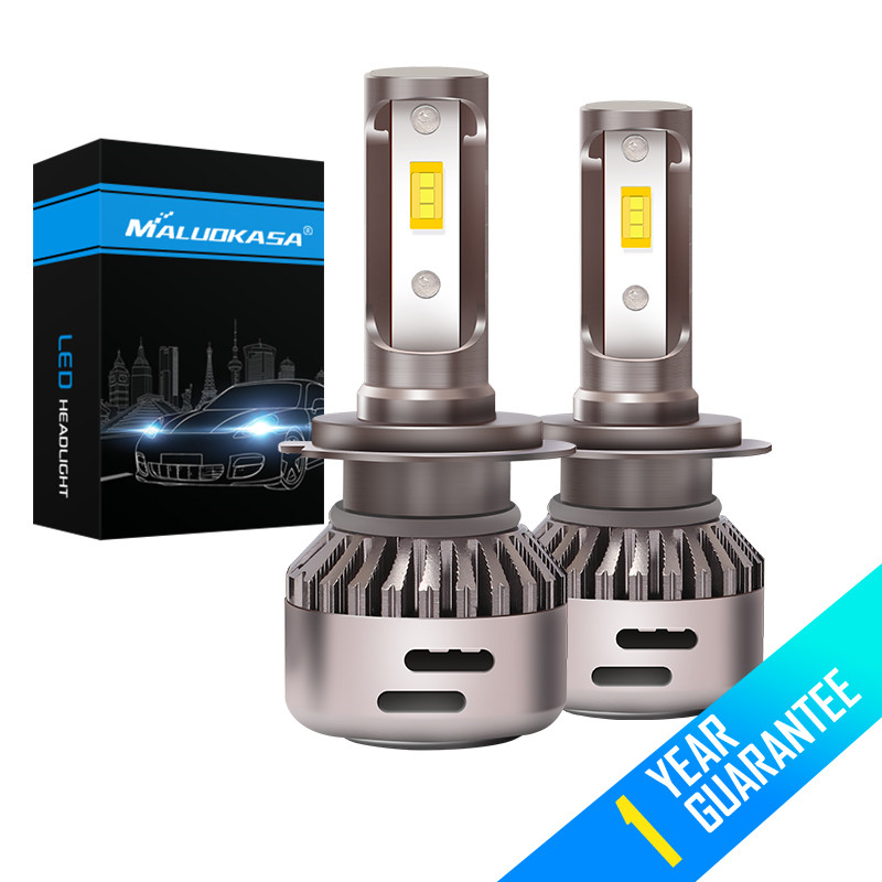 все цены на 2Pcs Mini H4 LED Car Headlight Bulb H8 9006 HB4 9005 HB3 H7 H1 Canbus Fog Light 72W 20000LM Error Free 6000K 12V 24V Car Styling онлайн