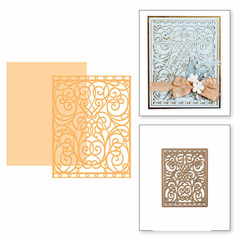 Eastshape кружевная рамка фон металлические режущие штампы для скрапбукинга рамка «сделай сам» Цветок Новый 2019 высечки вечерние свадебные украшения