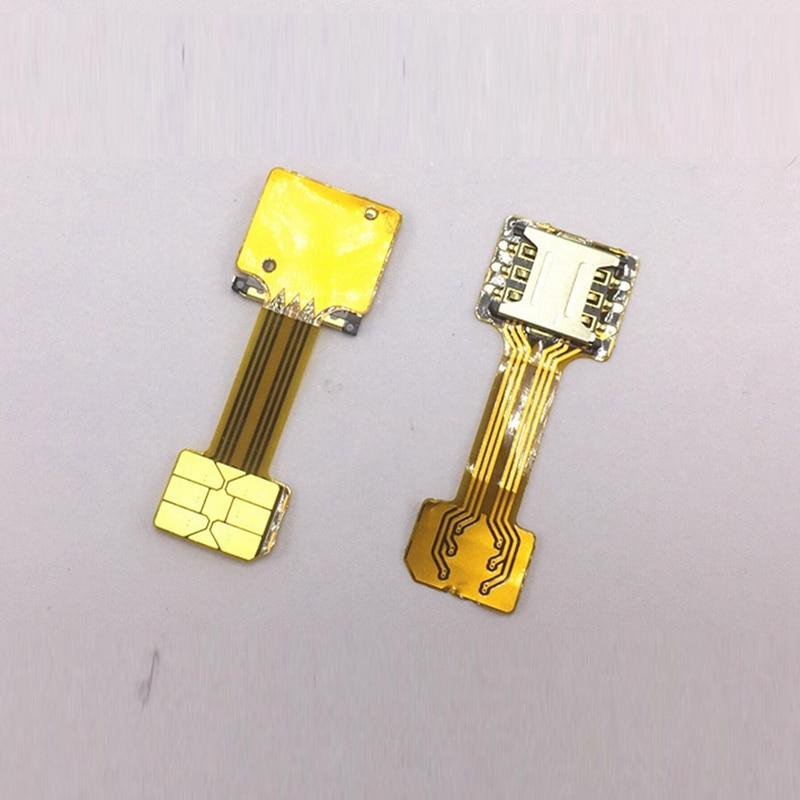 Hybrid Double Dual Phone SIM Card Micro SD Adapter for Samsung Xiaomi Redmi for Meizu Huawei 2 Nano Micro SIM Card Slot Adapter