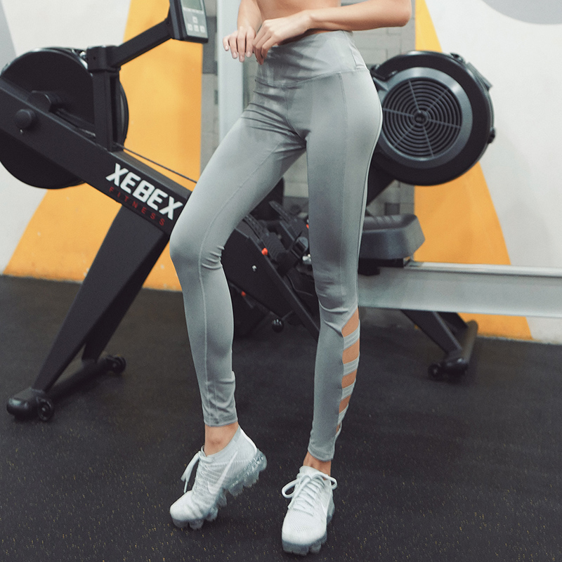 CHU YOGA 2018 New Hollow Yoga Pants Sexy Leggings Cross Fitness Female Tight Stretch Pants High Waist Jogging Pants P1609