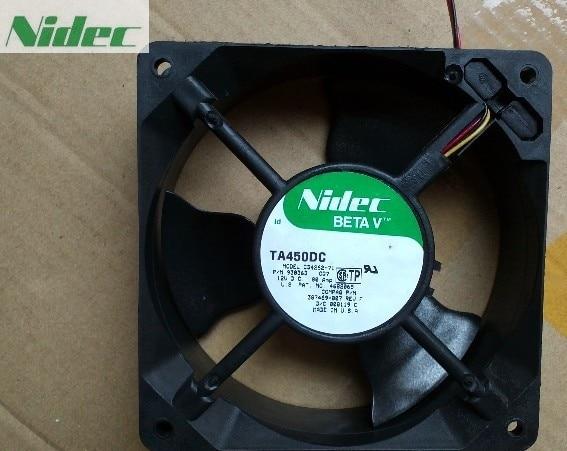 For Nidec TA450DC C33211-71A 12038 1238 12CM 12012038MM 12V 0.49A DC Server Cooling Fan