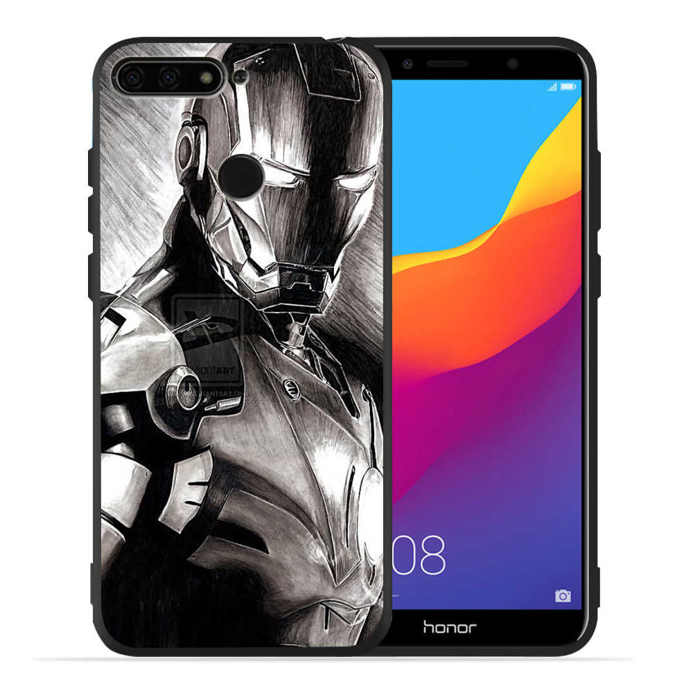 Dla Fundas Huawei Honor 8X Iron Man jad Deadpool Marvel dla Huawei Lite 9 Lite 10 9 8 8x 8c 8 Lite ochronna tylna pokrywa Etui