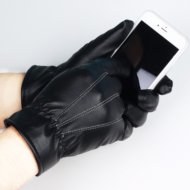NAIVEROO Waterproof and Warm Touch Screen Gloves made of PU Leather and Conductive Fibers for Women Suitable for Spring and Winter 22