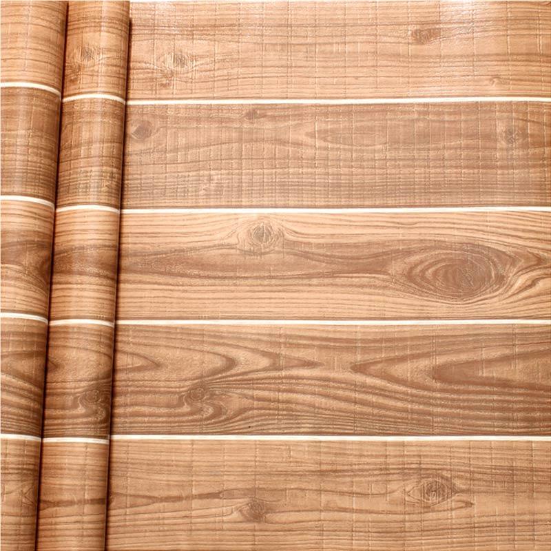 Papel Tapiz Moderno Simple De Vinilo Con Panel De Madera