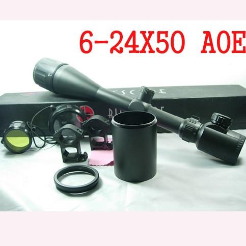 Army Military 6-24x50 AOE Hunting Riflescopes Red Green Dot Illuminated Riflescope Reticle Gun Rifle Holographic Optical Sight