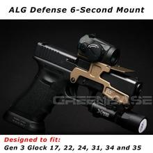 Taktische ALG Verteidigung 6-Second Mount Optik Zielfernrohrmontage RMR Für Pistole Gen3 Glock 17 18C 22 24 31 34 35 Faustfeuerwaffen Mit Magwell
