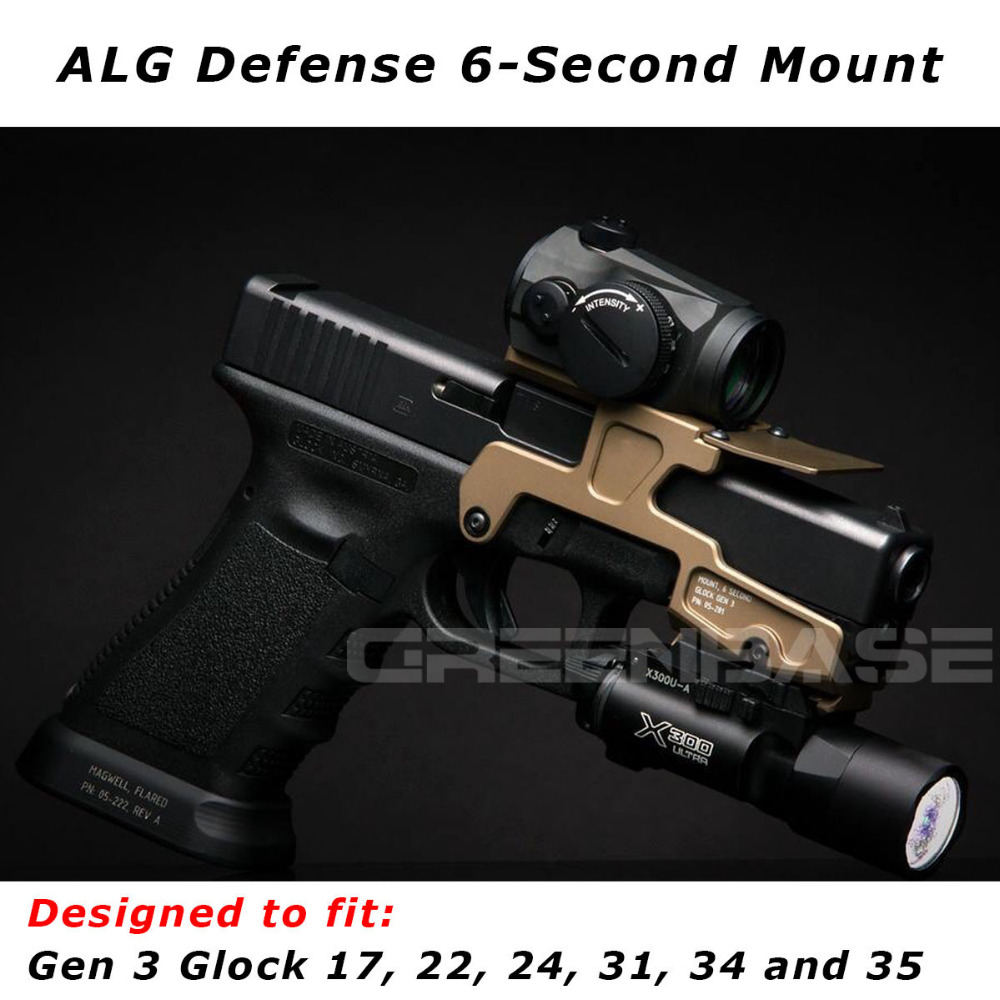 Tactical ALG Defense 6-Second Mount Optics Scope Mount RMR For Pistol Gen3 Glock 17 18C 22 24 31 34 35 Handguns With Magwell jxd 515w 515v remote control drone wifi fpv rc helicopter hd camera video quadcopter drone aircraft air plan toys children gift