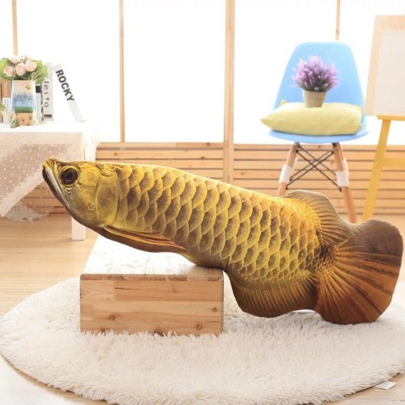 3D Simulation Gold Arowana Toy Kelisa Yellow Croker Lifelike Fish Plush Toy 85cm 34in Kids Birthday Gift burroughs billy watson s croker sack