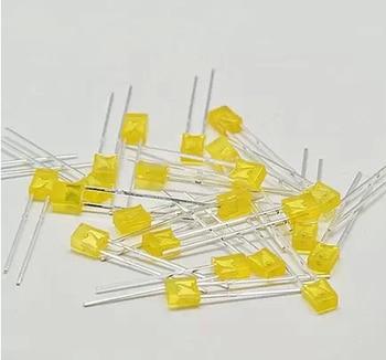 Żółty 02-67 100 sztuk/partia 2X3X4 plac LED żółta dioda emitująca światło (kwadrat)